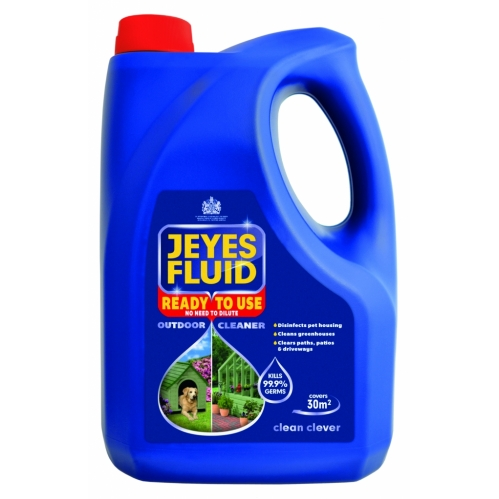 Jeyes Fluid Ready Use Outdoor Disinfectant Cleaner Path Patio Driveway Kennel 4L