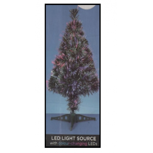 Premier Indoor 60cm Light Up LED Colour Changing Fibre Optic Christmas Tree