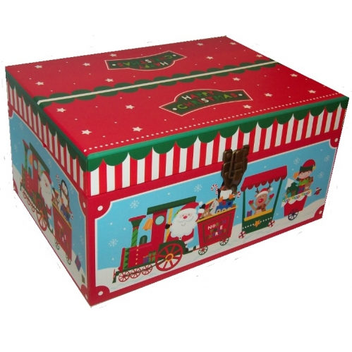 Small Santa Express Christmas Eve Shoe Gift Box Present Chest 40cm x 29cm x 21cm