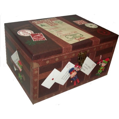 Medium Elf Christmas Eve Delivery Shoe Gift Box Present Chest 45cm x 32cm x 22cm