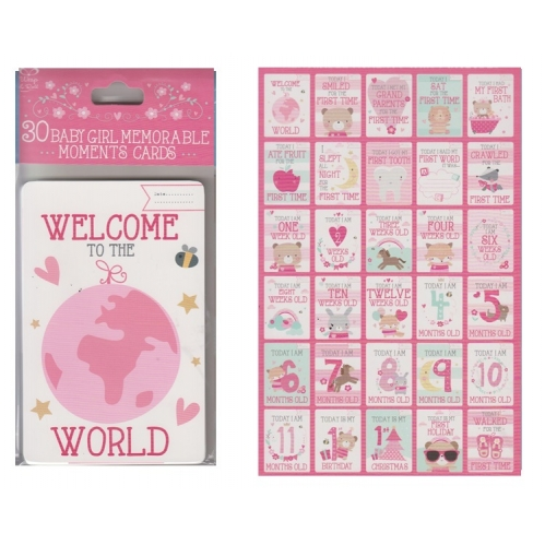 Baby Memorable Cards Girl
