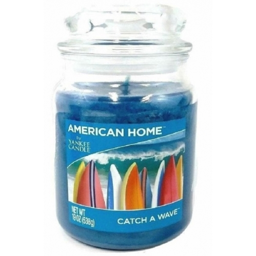 American Home Large Scented Yankee Candle 19oz 538g Blue Catch A Wave