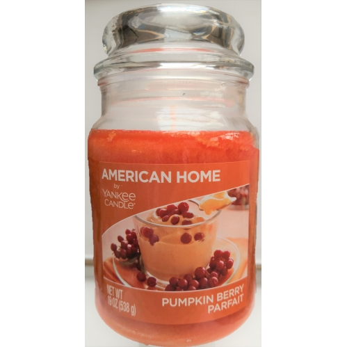 American Home Large Scented Yankee Candle 19oz 538g Orange Pumpkin Berry Parfait