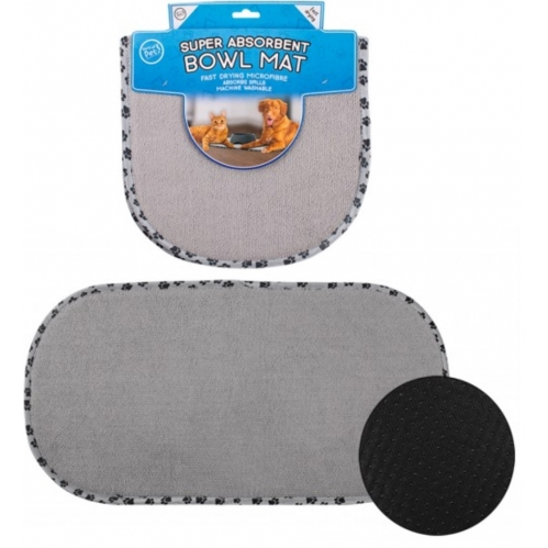 Grey Pet Bowl Mat