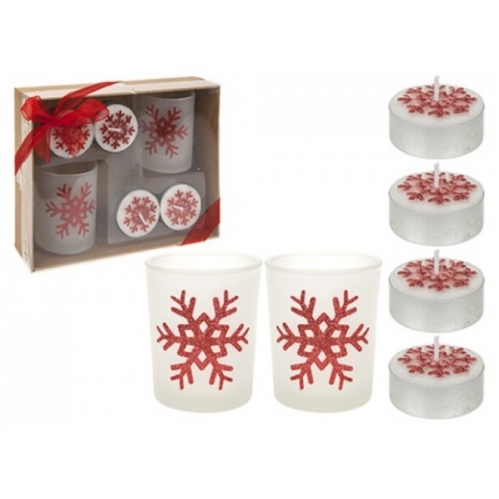 Red Candle Gift Set