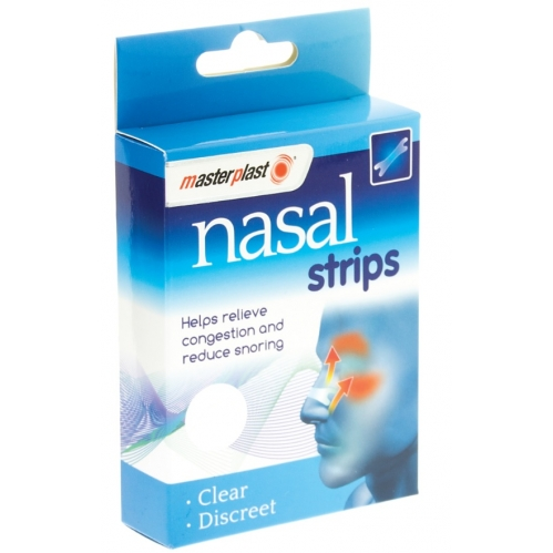 Masterplast Pack Of 20 Nasal Strips Nose Congestion Relief & Anti Snoring Aid