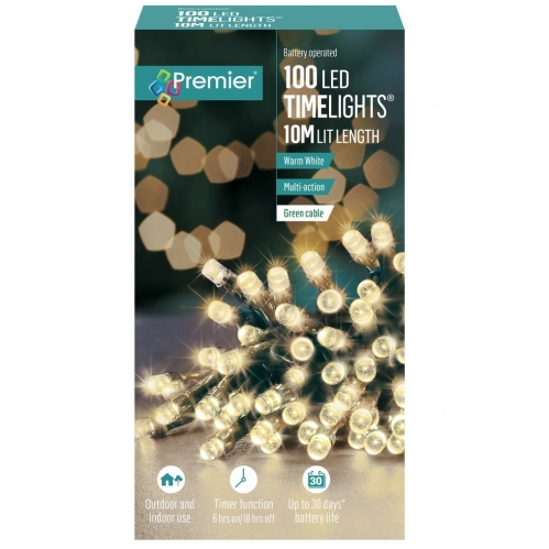 100 Warm White Timerlights