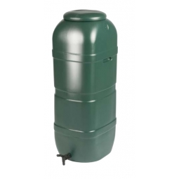Strata 100L Slimline Water Butt including Tap and Snap-tight Lid - Green