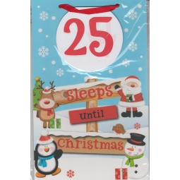 Countdown To Christmas Pull Of Pages Advent Calender Board Pull Off Sleeps