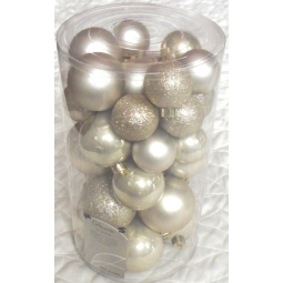 30 Pearl Gold Baubles