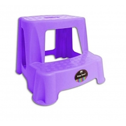 Children 2 Step Plastic Stool Bathroom Reaching Stool Home Ktichen Stool- Purple