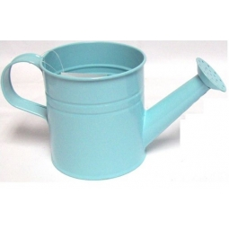 Pastel Coloured Kids Childrens Small Zinc Metal Watering Can Plant Pot Tin Blue