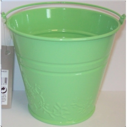 Green Pastel Small Metal Bucket Flower Plant Pot Sweet Tin Wedding 11.5cm