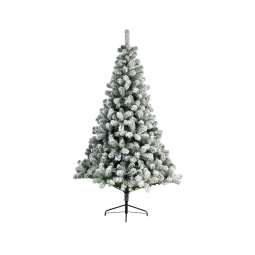 Snowy Imperial Pine Hinged Christmas Tree 210cm Metal Foot Soft Needle