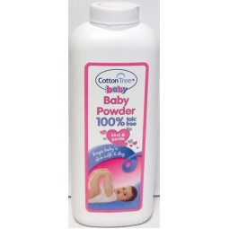 Cotton Tree Baby Body Powder 100% Talc Free Absorbs Moisture Soft Skin 284g