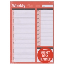 Week To View Weekly Desk Planner Pad Organiser Pull Of Pages To Do List Contacts