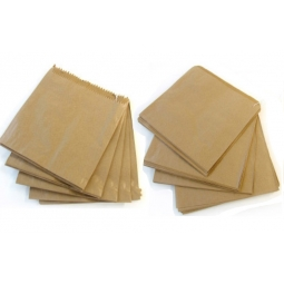 1000 Kraft Brown Strung Paper Food Bags Fruit Pastry Sandwich Veg 7inch 18cm