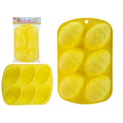 Yellow Non Stick Silicone Spring Time Easter Egg Chocolate Baking Mould Jelly