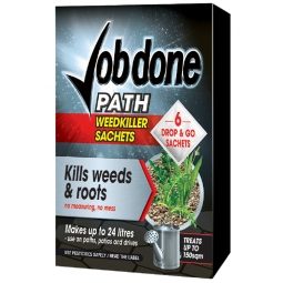 Job done Path Weedkiller Sachets 6x8g Kills Weeds & Roots: Up to 150sqm