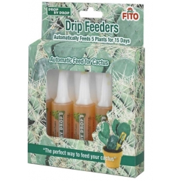 Fito Cactus Plant Food Drip Feeders 5 x 15 Day Slow Release Food Drops 32ml Each