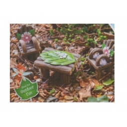 The Fairies Enchanted Garden Magical Resin Woodland Fairy Bench Table Chair Set