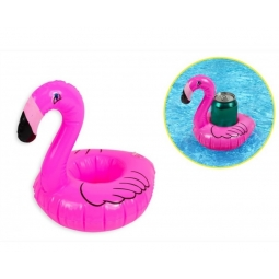 Blow Up Flamingo Can Holder