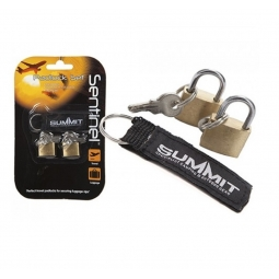 Sentinel Pack Of 2 Small Luggage Padlocks Set With Keyring Attachment 3 Keys