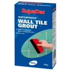SupaDec Waterproof White Wall Tile Grout Bathroom Kitchen Mould Resistant 500g