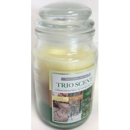 Trio Scent Christmas Bell Jar Candle Cozy Cashmere Woodland Oak Festive Fir 22H