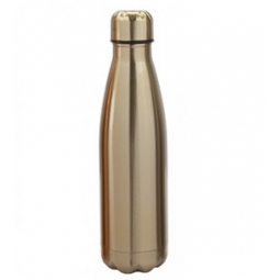Gold Stainless Steel Double Wall Drinking Bottle Hot Cold Drinks Vacuume Flask