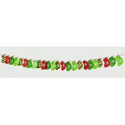 Premier Traditional 1.6m Long Fabric Christmas Advent Mini Stocking Garland
