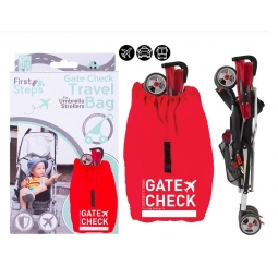 Red Stroller Gate Check Travel Bag Umbrella Stroller Pushchair Carrier Bag Sack