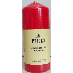 Prices Large Red Pillar Candle 6Inch 15cm x 6cm  Up to 40hr Burn Time Home Décor