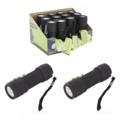 Ultra Bright 9 LED Mini Rubber Finish Hand Torch Hiking Camping Handy Torch