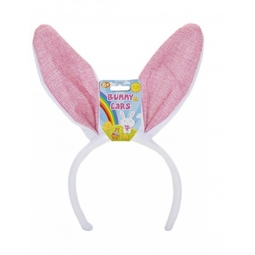Pink Fabric Easter Bunny Ears Super Soft Cute Kids Spring Fancy Dress Headband