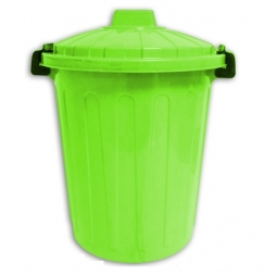 Green 25L ClipTop Plastic Dustbin Toy Box Storage Pet Food Tub Home Office Wast