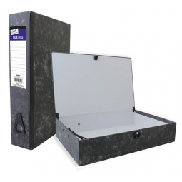 A4 Black Box File With Document Clip Paperwork Desk Storage Box Folder