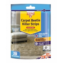 Zero In Carpet Beetle & Lavae Killer Strips Odour Free Household Pest Control
