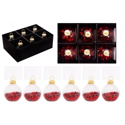 Red Placecard Holder Baubles