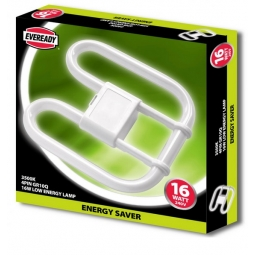 Eveready 2D Low Energy Saver Lamp Bulb 4 Pin GR10Q 3500K 16W 1050LM