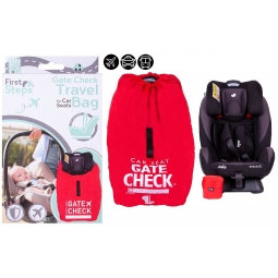 Red Car Seat Gate Check Airplane Travel Bag Drawstring Carrier Name Bag Sack