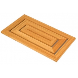 Bamboo Duck Board Bathroom Shower Bath Mat RectangleHeat Resistant Bamboo