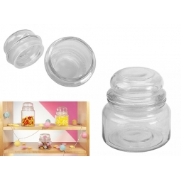 300ml Retro Glass Sweet Storage Jar Tea Coffe Sugar Canister Party Favour