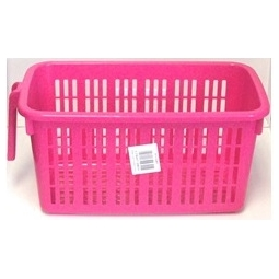 Medium Pink Handy Caddy Basket Whitefurze Shelf Cupboard Storage Basket 26.5cm x 14.5cm