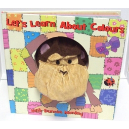 Lets Learn About Colours With Duncan Monkey Childrens Puppet Story Learn Book