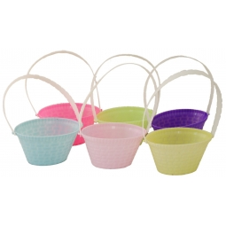 Pack Of 6 Mini Easter Egg Hunt Baskets With Handles 4