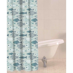 Sabichi Baby Fish PEVA Shower Curtain with Hooks 180cm x 180cm