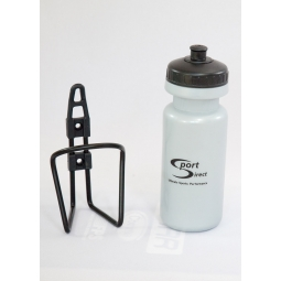 Sports Direct Ergonomic Silver Plastic Sports Cap Drinking Bottle In Cage 600ml