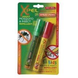 Xpel Adult & Kids Mosquito & Insect Repellent Spray Pens Deet Free 10ML Travel