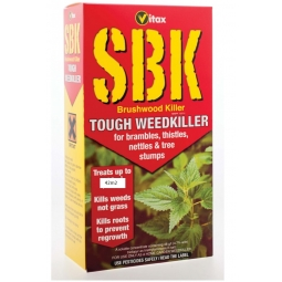 Vitax SBK Brushwood Killer Tough Weedkiller Brambles Tree Stump Nettles 125ml